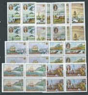 Cook Islands 1968 Cook's Voyage Of Discovery Set Of 8 In Blocks Of 4 MNH / MLH - Islas Cook