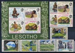 Lesotho 1975 Mi. 174-182 Bl. 1 Neuf ** 100% Instruments De Musique, Parc National - Lesotho (1966-...)