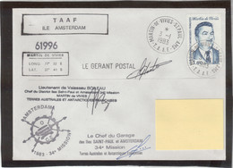 E33 - TAAF - PO99 Du 3.1.1983 St PAUL - Multiples Cachets Et Signatures - French Southern And Antarctic Territories (TAAF)