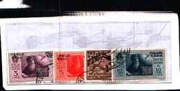 84865) EGEO-Pro Società Nazionale Dante Alighieri -  POSTA AEREA -4 VALORI N.10-13--USATI - Aegean