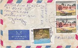 "Lebanon-Liban Com.cover Sent 1973 To Sydney "" SYR "" Rare Clear Cancel,verso Also Scan- Fine- Red. Price- SKRILL PAY - Lebanon"