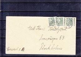 Suède - Lettre De 1941 - Oblit PKP 68 - Exp Vers Stockholm - Timbres De Rouleaux Mal Découpés - Sweden