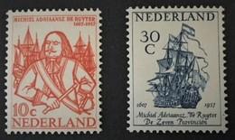 1957 De Ruyterzegels NVPH 693-694**) - Period 1949-1980 (Juliana)