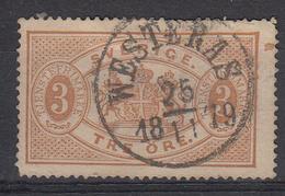 ZWEDEN - Michel - 1874 - Nr 1A ( T/D: 14) - Gest/Obl/Us - Cote 35.00 € - Service