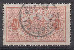 ZWEDEN - Michel - 1874 - Nr 7A ( T/D: 14) - Gest/Obl/Us - Cote 70.00 € - Service