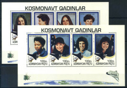 Azerbaïdjan 1995 Mi. 206-213 Mini Feuille 100% ** Les Astronautes - Azerbaïjan