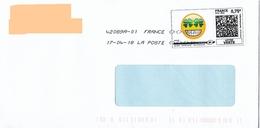 Montimbrenligne 0.75€ Emoji Trefle Quatre Feuilles + Toshiba - Frankrijk