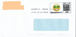 Montimbrenligne 0.75€ Emoji Trefle Quatre Feuilles + Toshiba - France