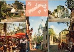 Cartolina 5 VEDUTE DI MONTMARTRE , Anni '60 - P51 - France