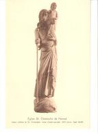 Hannut(Pr.Liège)-Eglise Saint-Christophe-Statue-Tronc D'arbre Sculpté De 3m95-Edit.Nels-Touring Club De Belgique-+/-1930 - Hannuit