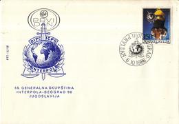 Joegoslavië - FDC 06-10-1986 - Generalversammlung Der Interpol - Belgrado - M 2197 - FDC