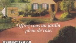 TELECARTE 50....OFFREZ VOUS UN JARDIN PLEIN DE ROSE   BAYER   . - France