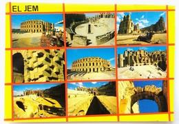 #334  Roman City EL JEM In TUNISIA - Views Of The AMPHITHEATRE - Archeology ANTIQUE - Postcard - Túnez