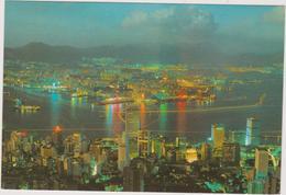 Chine  Hong Kong    Night Scene From Peak - China (Hong Kong)