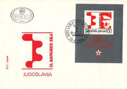 Joegoslavië - FDC 25-06-1986 - Kongreβ Des Bundes Der Kommunisten Jugoslawiens (SKJ) - M Blok29 - FDC