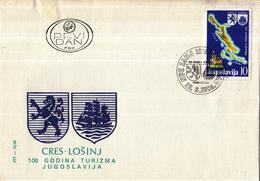 Joegoslavië - FDC 29-06-1985 - 100 Jahre Tourismus Auf Cres (Cherso) Und Lošinj (Lussin) - M 2111 - Vakantie & Toerisme