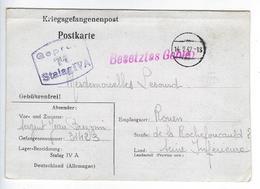 CPA Carte Lettre Kriegsgefangenenpost Stalag IVA Elsterhorst Nardt Prisonnier De Guerre - Guerra 1914-18