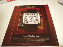 PUBLICITE AFFICHE MONTRE TANK MC DE CARTIER 2014 - Jewels & Clocks