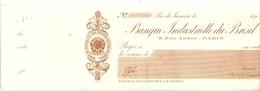 CHEQUE B.INDUS BRESIL - Chèques & Chèques De Voyage