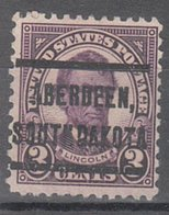USA Precancel Vorausentwertung Preo, Locals South Dakota, Aberdeen 635-205 - Vereinigte Staaten