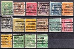 USA Precancel Vorausentwertung Preo, Locals South Dakota, Aberdeen 205, 16 Diff. - Vereinigte Staaten