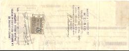 MONTE CARLO . TRAITE  L. BOUILLET. PLOMBERIE - Cheques & Traveler's Cheques