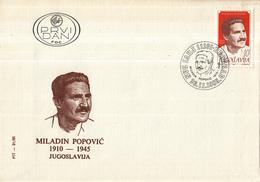 Joegoslavië - FDC 26-11-1985 - 75. Geburtstag Von Miladin Popovič - M 2129 - FDC
