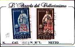 84871) EGEO-Centenario Di Uomini Illustri SERIE COMPLETA- N.109-110---USATI - Egée