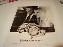 PUBLICITE AFFICHE MONTRE BAUME ET MERCIER 2014 - Bijoux & Horlogerie