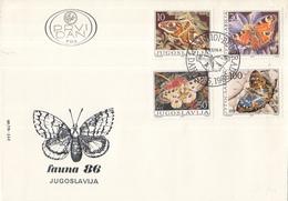 Joegoslavië - FDC 26-05-1986 - Fauna: Schmetterlinge/Vlinders/Butterflies/Papillons - M2171-2174 - Vlinders