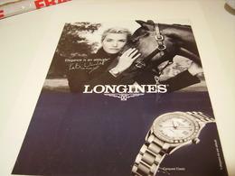 PUBLICITE AFFICHE MONTRE LONGINES ET KATE WINSLET  2014 - Jewels & Clocks