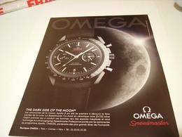 PUBLICITE AFFICHE MONTRE OMEGA  SPEEDMASTER 2014 - Jewels & Clocks