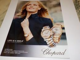 PUBLICITE AFFICHE MONTRE CHOPARD 2014 - Jewels & Clocks