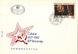 Joegoslavië - FDC 18-04-1987 - 50 Jahre Kommunistische Partei Sloweniens - M 2218 - FDC