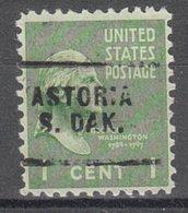 USA Precancel Vorausentwertung Preo, Locals South Dakota, Astoria 703 - Vorausentwertungen