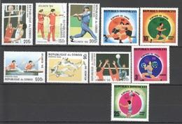 E871 1996 DOMINICANA CONGO OLYMPIC GAMES ATLANTA MONTREAL 2SET MNH - Olympic Games