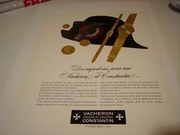 ANCIENNE PUBLICITE DES NAPOLEON POUR UNE  MONTRE VACHERON ET CONSTANTIN 1966 - Jewels & Clocks
