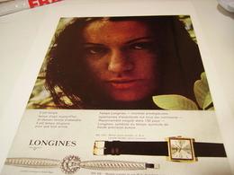 ANCIENNE PUBLICITE   MONTRE LONGINES 1964 - Jewels & Clocks