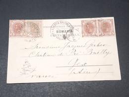ROUMANIE - Oblitération D 'Agence Spéciale Sur Carte Postale Pour La France En 1904 - L 19512 - 1881-1918: Carol I.