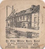 "SOUS-BOCK Coaster ""The Old White Harte Hotel"" Burnham-on-Crouch Essex   (rien Au Dos) - Sous-bocks"