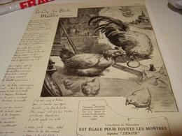 ANCIENNE PUBLICITE AFFICHE MONTRE ZENITH LA POULE ET LE COQ 1915 - Bijoux & Horlogerie