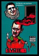 CPM Syrie Akram Raslan  Satirique Caricature JIHEL Tirage Limité Numéroté Signé En 30 Exemplaires - Syrie