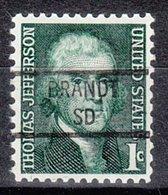 USA Precancel Vorausentwertung Preo, Locals South Dakota, Brandt 841 - Vereinigte Staaten