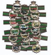 20 Cigar Bands Tsh Cars Nr21-40 Green - Cigar Bands