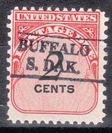 USA Precancel Vorausentwertung Preo, Locals South Dakota, Buffalo L-1 HS - Vereinigte Staaten