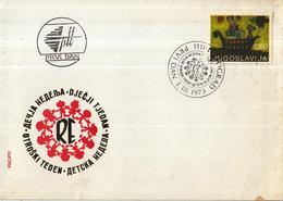 """Joegoslavië - FDC 01-10-1973 - Europäisches Kindertreffen """"Freude Europas""""- Kinderzeichnungen - M 1519 - FDC"""