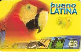 TARJETA DE ESPAÑA DE UN PAPAGAYO DE 6 EUROS (LORO-PARROT) - Perroquets