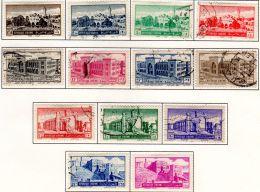 22.4.1952; Freimarken - Bauwerke; Mi-Nr. 604 - 615, Gestempelt, Mi-Nr. 616 Neu Mit Falz; Los 49819 - Syrien