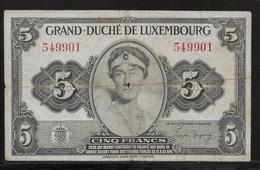 Luxembourg - 5 Francs -  Pick N°43  - TB - Luxembourg