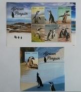 Liberia 2015** Mi.klb.6625/30,bl.697. African Penguin MNH [15;155] - Penguins